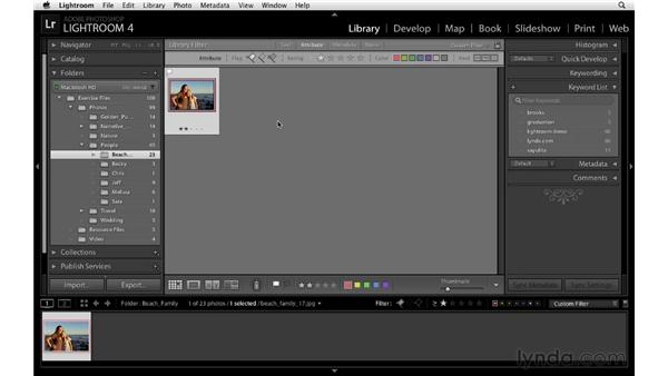 Filtering by flag, stars, and labels: Lightroom 4 Essentials: 01 Organizing and Sharing with the Library Module