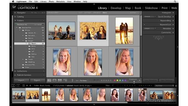 Stacking photos into groups: Lightroom 4 Essentials: 01 Organizing and Sharing with the Library Module