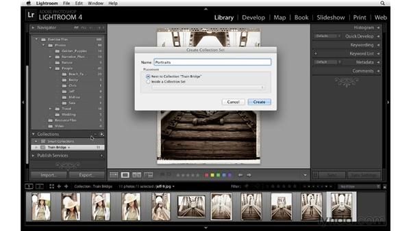 Going further with collections: Lightroom 4 Essentials: 01 Organizing and Sharing with the Library Module