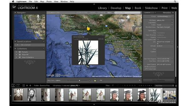 Overviewing the new Map module: Lightroom 4 Essentials: 01 Organizing and Sharing with the Library Module