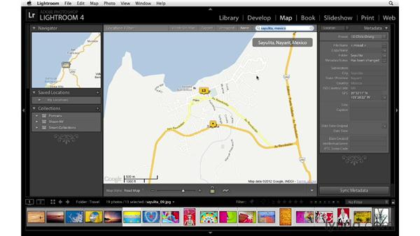 Tagging images with locations: Lightroom 4 Essentials: 01 Organizing and Sharing with the Library Module