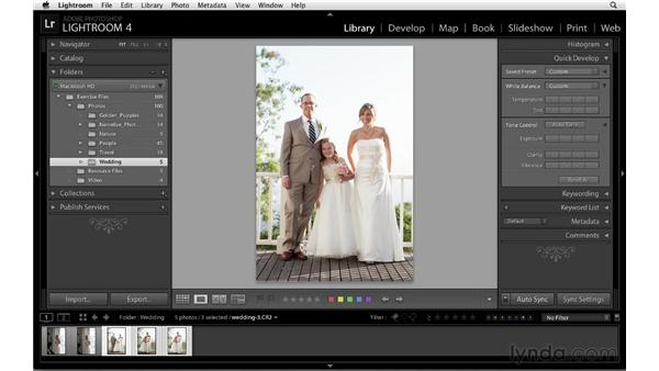 Synchronizing settings: Lightroom 4 Essentials: 01 Organizing and Sharing with the Library Module