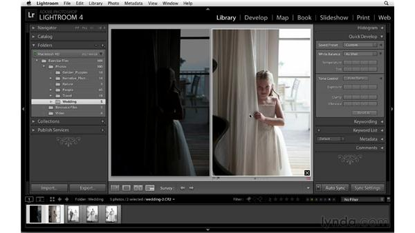 Making incremental adjustments: Lightroom 4 Essentials: 01 Organizing and Sharing with the Library Module