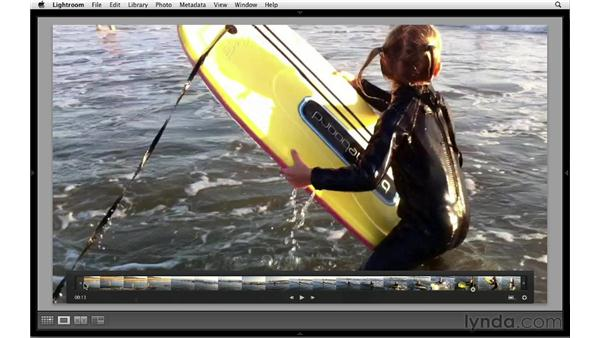 Trimming a video: Lightroom 4 Essentials: 01 Organizing and Sharing with the Library Module