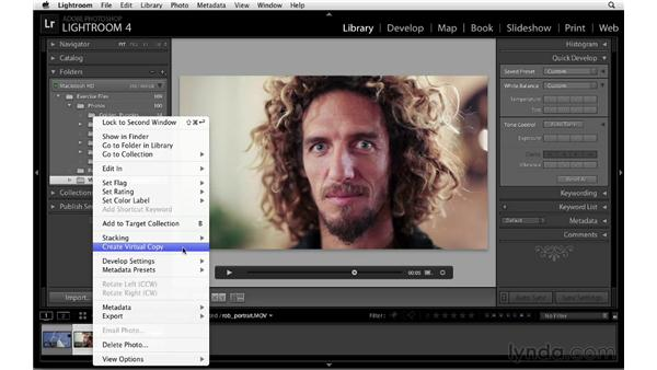 Editing the color and tone of a video: Lightroom 4 Essentials: 01 Organizing and Sharing with the Library Module