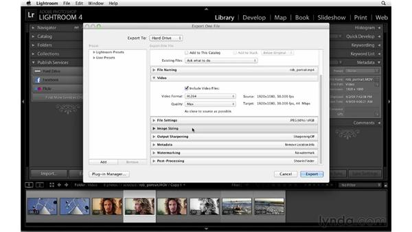 Exporting to a hard drive: Lightroom 4 Essentials: 01 Organizing and Sharing with the Library Module