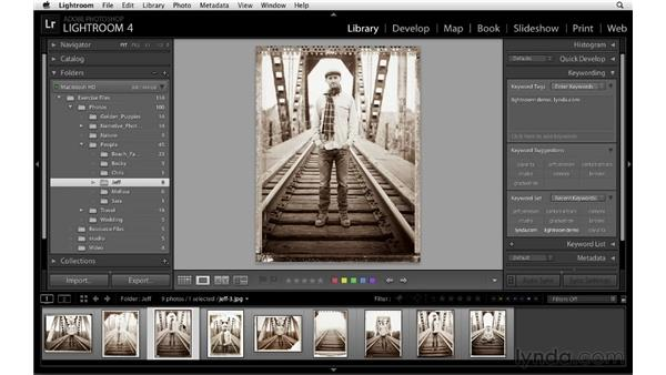 Adding keywords: Lightroom 4 Essentials: 01 Organizing and Sharing with the Library Module