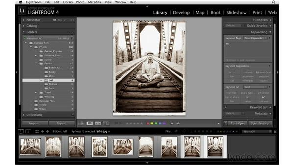 Synchronizing keywords: Lightroom 4 Essentials: 01 Organizing and Sharing with the Library Module