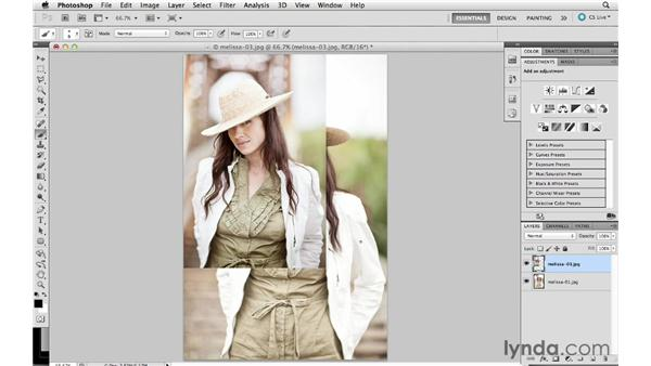 Including multiple images in Photoshop as layers: Lightroom 4 Essentials: 01 Organizing and Sharing with the Library Module