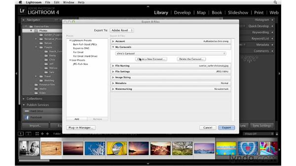 Exporting to Adobe Revel: Lightroom 4 Essentials: 01 Organizing and Sharing with the Library Module