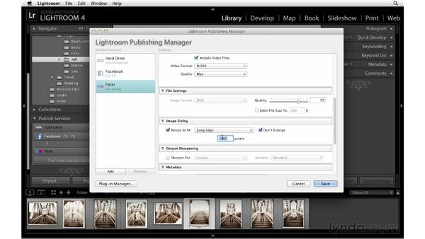 Uploading photos to Facebook and Flickr: Lightroom 4 Essentials: 01 Organizing and Sharing with the Library Module