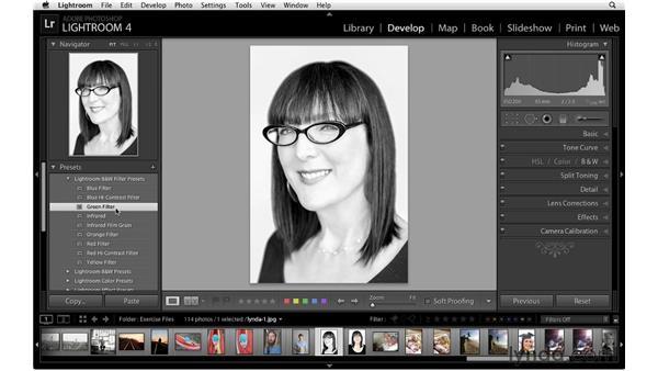 Using the Develop module presets: Lightroom 4 Essentials: 02 Enhancing Photos with the Develop Module