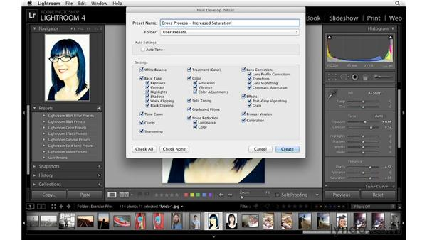 Creating your own presets: Lightroom 4 Essentials: 02 Enhancing Photos with the Develop Module