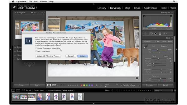 Working with legacy Lightroom files: Lightroom 4 Essentials: 02 Enhancing Photos with the Develop Module