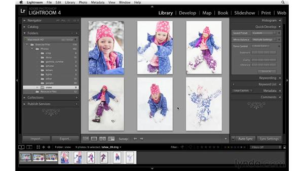 Comparing and surveying images: Lightroom 4 Essentials: 02 Enhancing Photos with the Develop Module