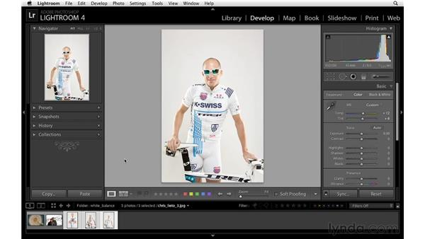Correcting white balance with a color checker: Lightroom 4 Essentials: 02 Enhancing Photos with the Develop Module