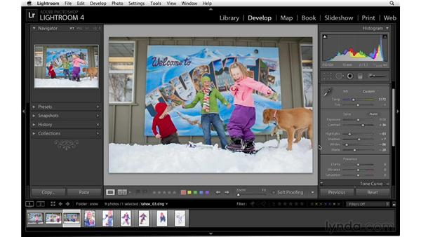 Using the tone controls to enhance photographs: Lightroom 4 Essentials: 02 Enhancing Photos with the Develop Module