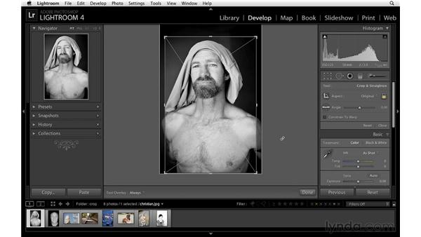 Cropping: Lightroom 4 Essentials: 02 Enhancing Photos with the Develop Module