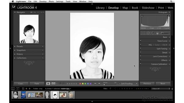 Crop creativity and orientation: Lightroom 4 Essentials: 02 Enhancing Photos with the Develop Module