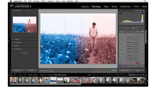 Introducing the Graduated Filter: Lightroom 4 Essentials: 02 Enhancing Photos with the Develop Module