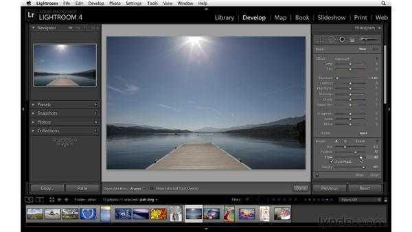 Using Auto Mask: Lightroom 4 Essentials: 02 Enhancing Photos with the Develop Module