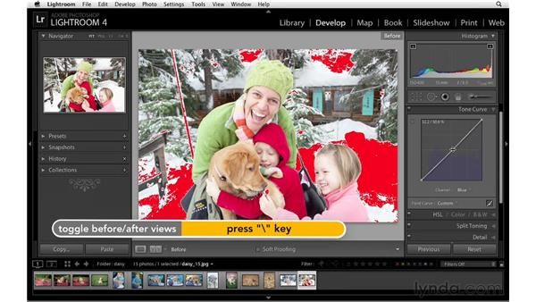 Changing tone and color with the the point tone curve: Lightroom 4 Essentials: 02 Enhancing Photos with the Develop Module