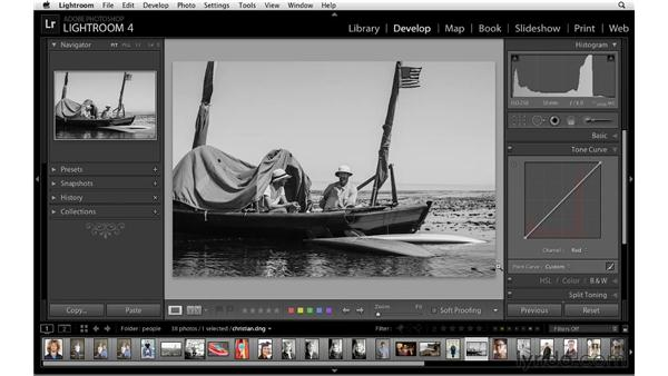 Making creative RGB adjustments: Lightroom 4 Essentials: 02 Enhancing Photos with the Develop Module