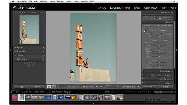 Creative color with HSL: Lightroom 4 Essentials: 02 Enhancing Photos with the Develop Module