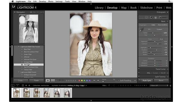 Black-and-white images and collections: Lightroom 4 Essentials: 02 Enhancing Photos with the Develop Module