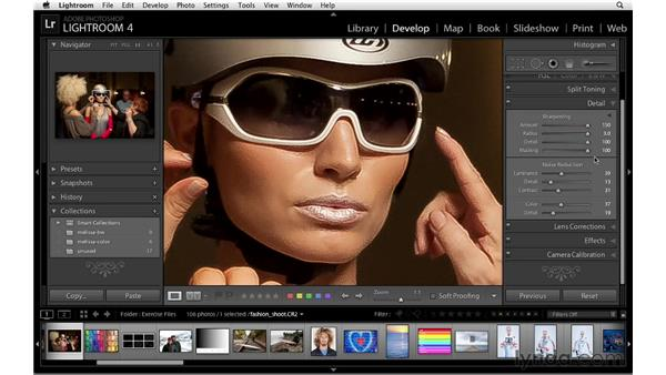 Understanding sharpening: Lightroom 4 Essentials: 02 Enhancing Photos with the Develop Module