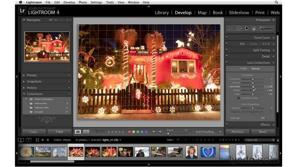 Correcting distortion: Lightroom 4 Essentials: 02 Enhancing Photos with the Develop Module