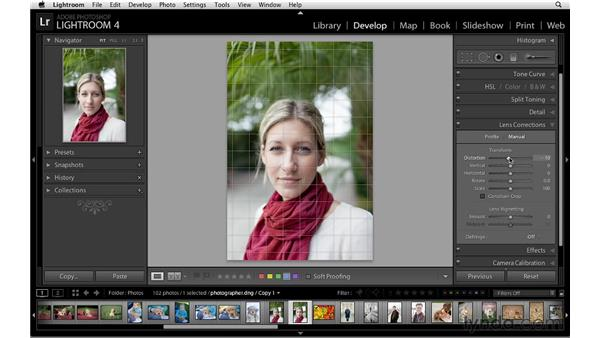 Making subtle adjustments to composition and tone: Lightroom 4 Essentials: 02 Enhancing Photos with the Develop Module
