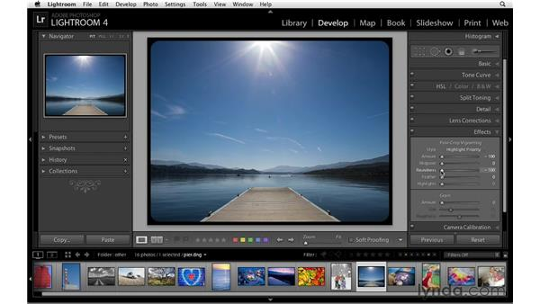 Using the Post-Crop controls: Lightroom 4 Essentials: 02 Enhancing Photos with the Develop Module