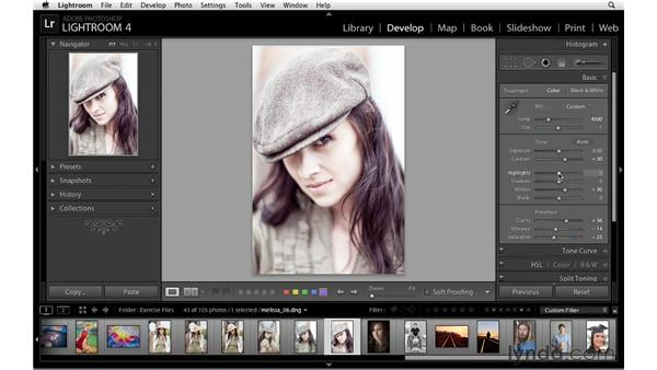 Creative color with camera calibration: Lightroom 4 Essentials: 02 Enhancing Photos with the Develop Module