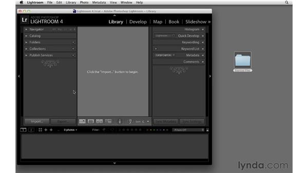 Using the exercise files: Lightroom 4 New Features