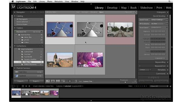 Organizing video files in the Photoshop Lightroom database: Lightroom 4 New Features
