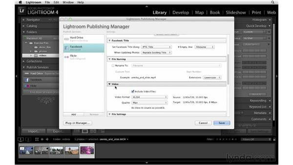Publishing videos to Flickr and Facebook: Lightroom 4 New Features
