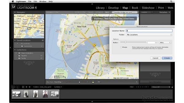 Creating saved locations: Lightroom 4 New Features