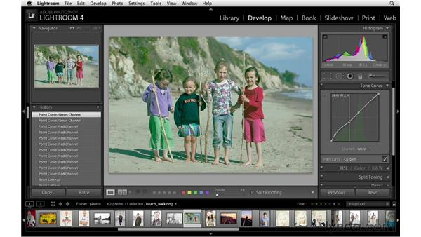 Making RGB tone curve adjustments: Lightroom 4 New Features