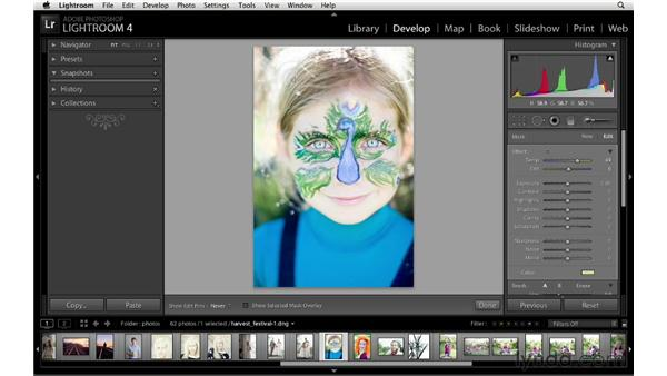 Using the Adjustment Brush and Graduated Filter tools: Lightroom 4 New Features