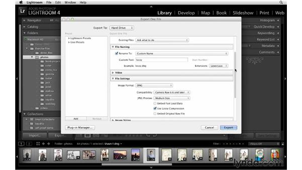 Improvements in working with DNG files: Lightroom 4 New Features