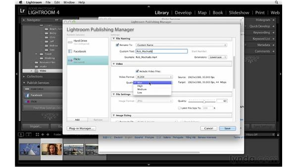 Publishing video to Flickr: Lightroom 4 Essentials: 01 Organizing and Sharing with the Library Module