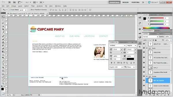 Working with fonts and colors: Designing Web Sites from Photoshop to Dreamweaver