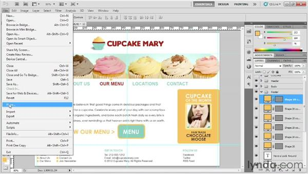Styling the footer: Designing Web Sites from Photoshop to Dreamweaver