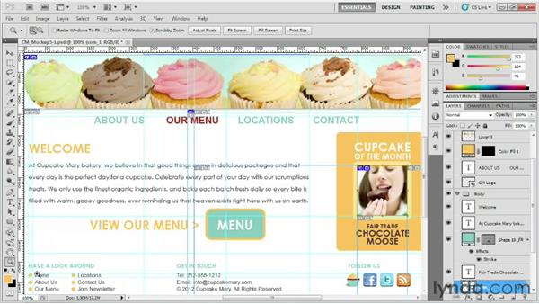 Slicing graphics: Designing Web Sites from Photoshop to Dreamweaver