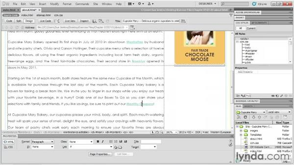 Creating pages and adding content with CSS: Designing Web Sites from Photoshop to Dreamweaver