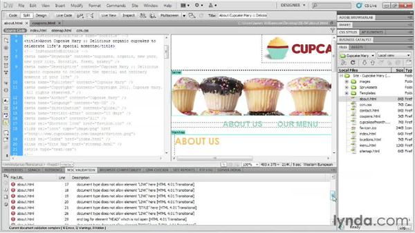 Validation: Designing Web Sites from Photoshop to Dreamweaver