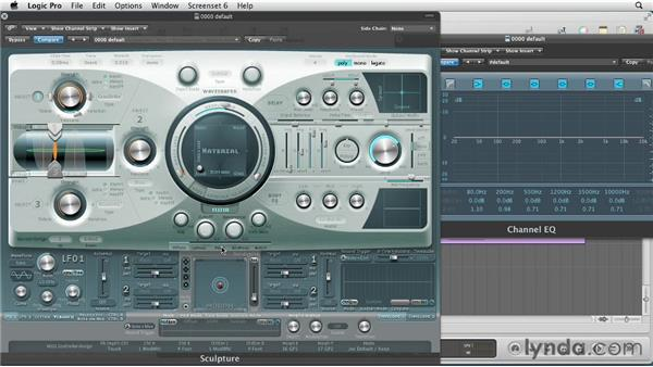 Sculpting with the filter: Virtual Instruments in Logic Pro