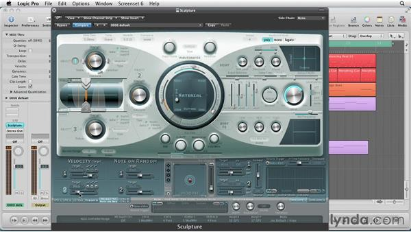 Using the Vibrato, Velocity and Controllers: Virtual Instruments in Logic Pro