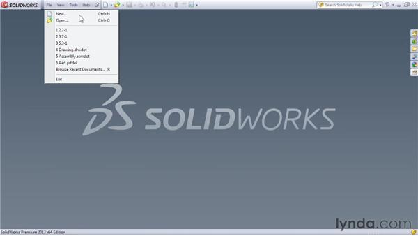 Launching SOLIDWORKS for the first time: SOLIDWORKS 2012 Essential Training